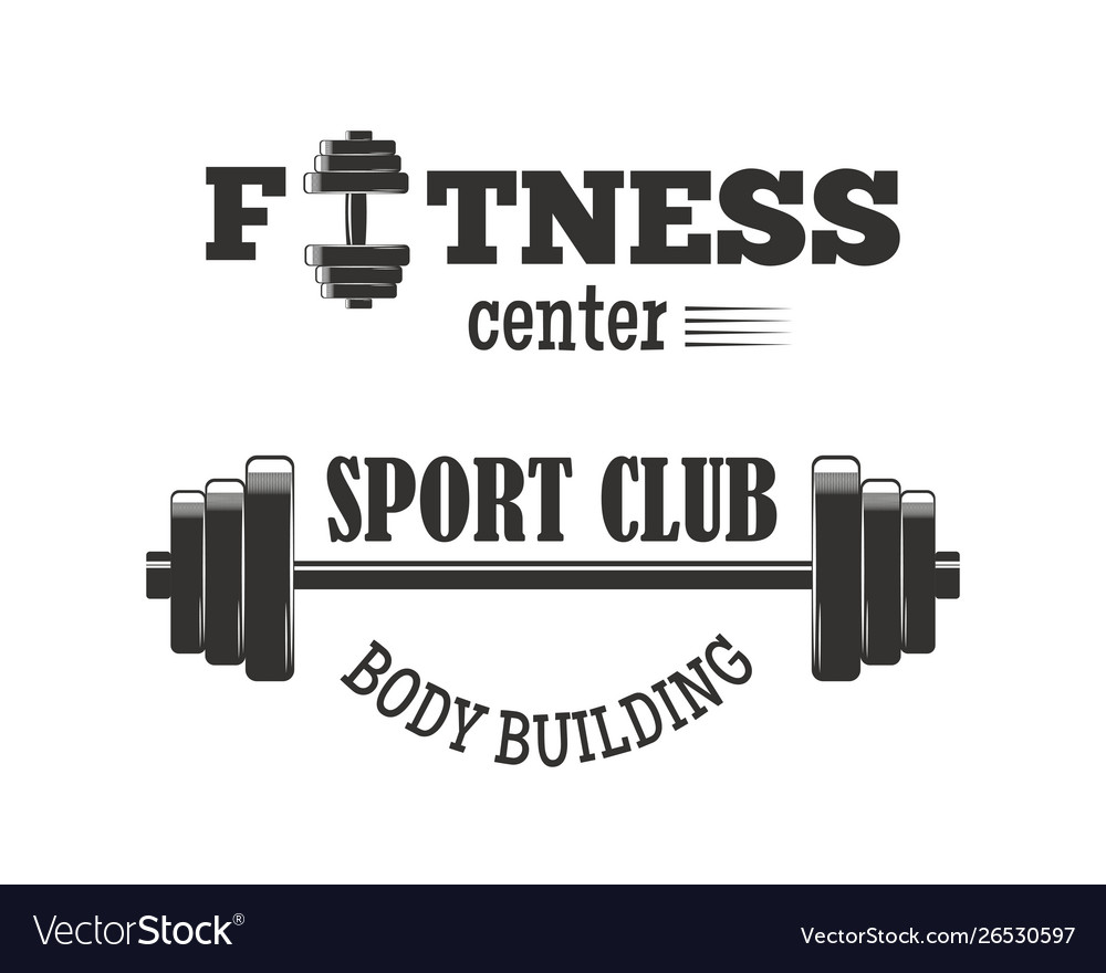 Gym sport club fitness emblem