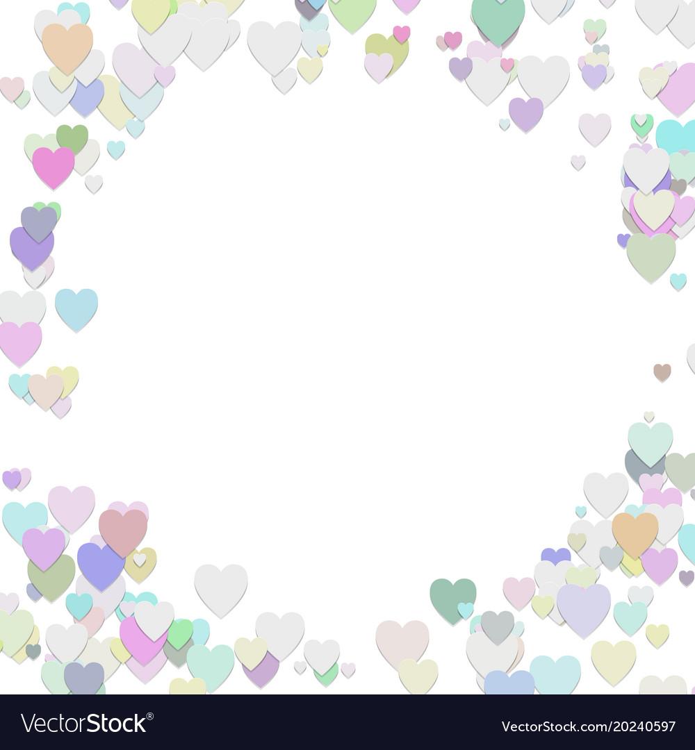 Happy random heart background template design