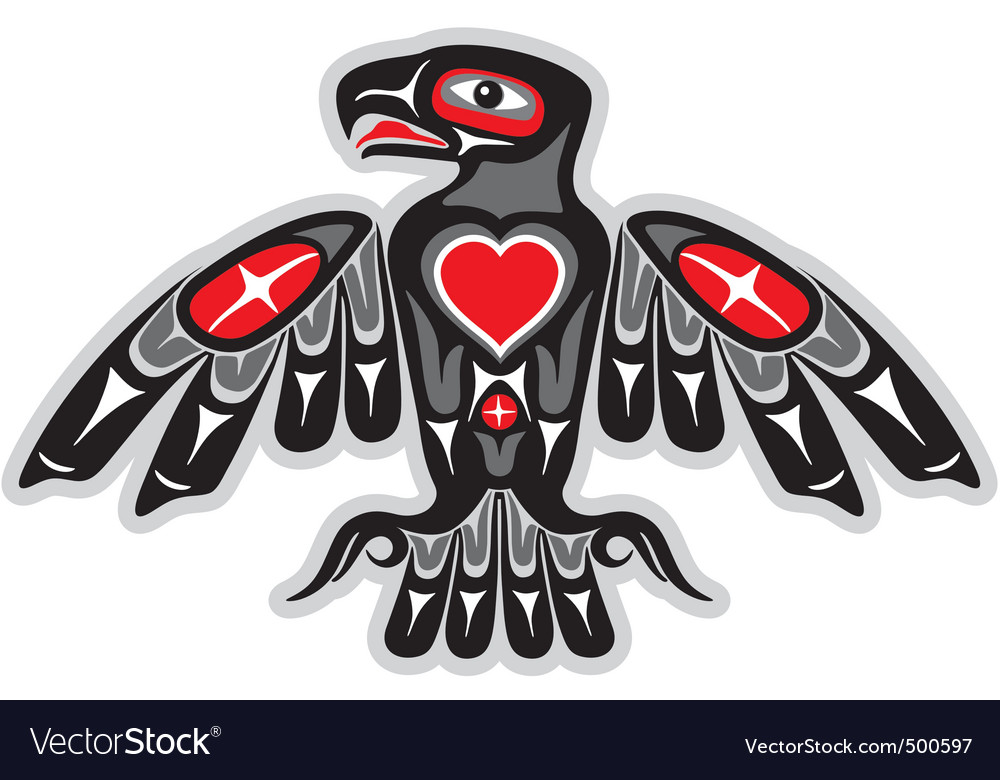 Indian eagle vector image