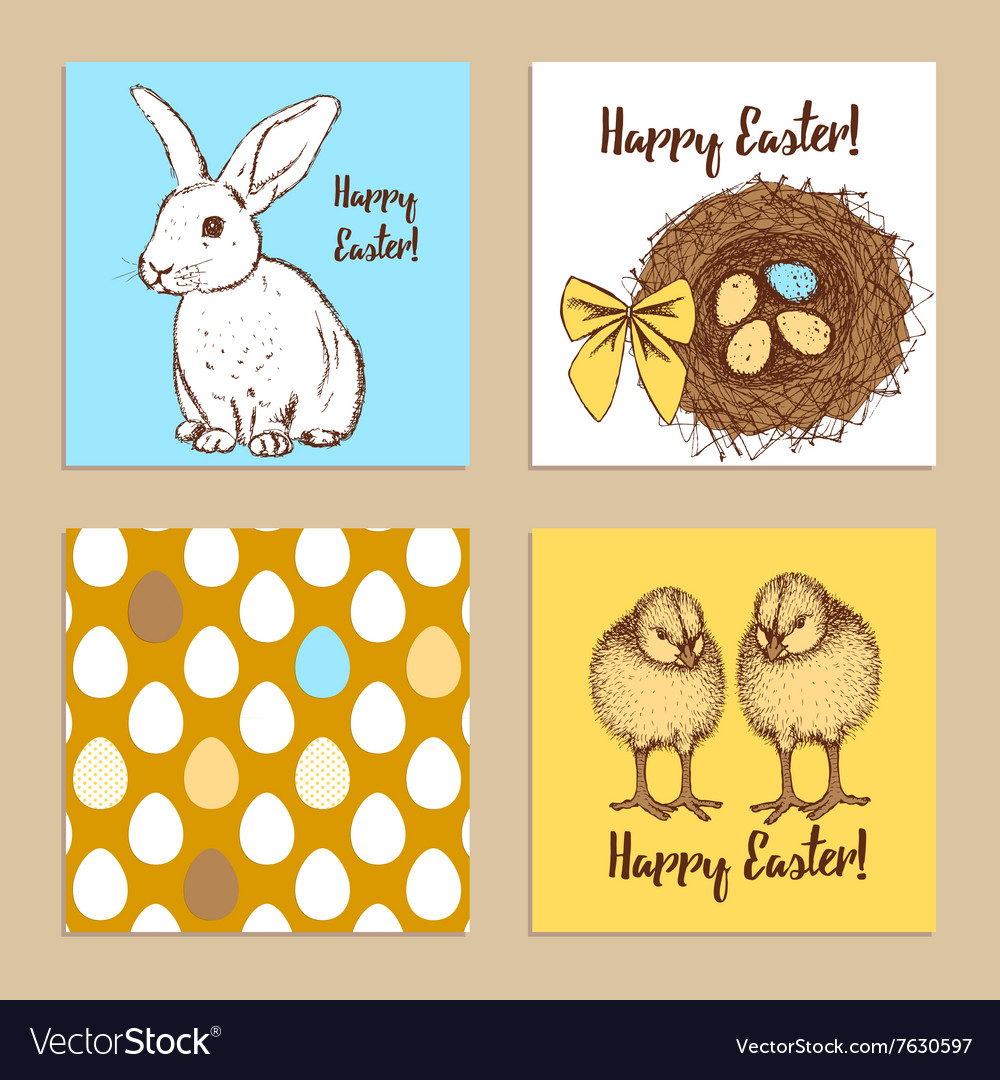 Sketch Easter posters set
