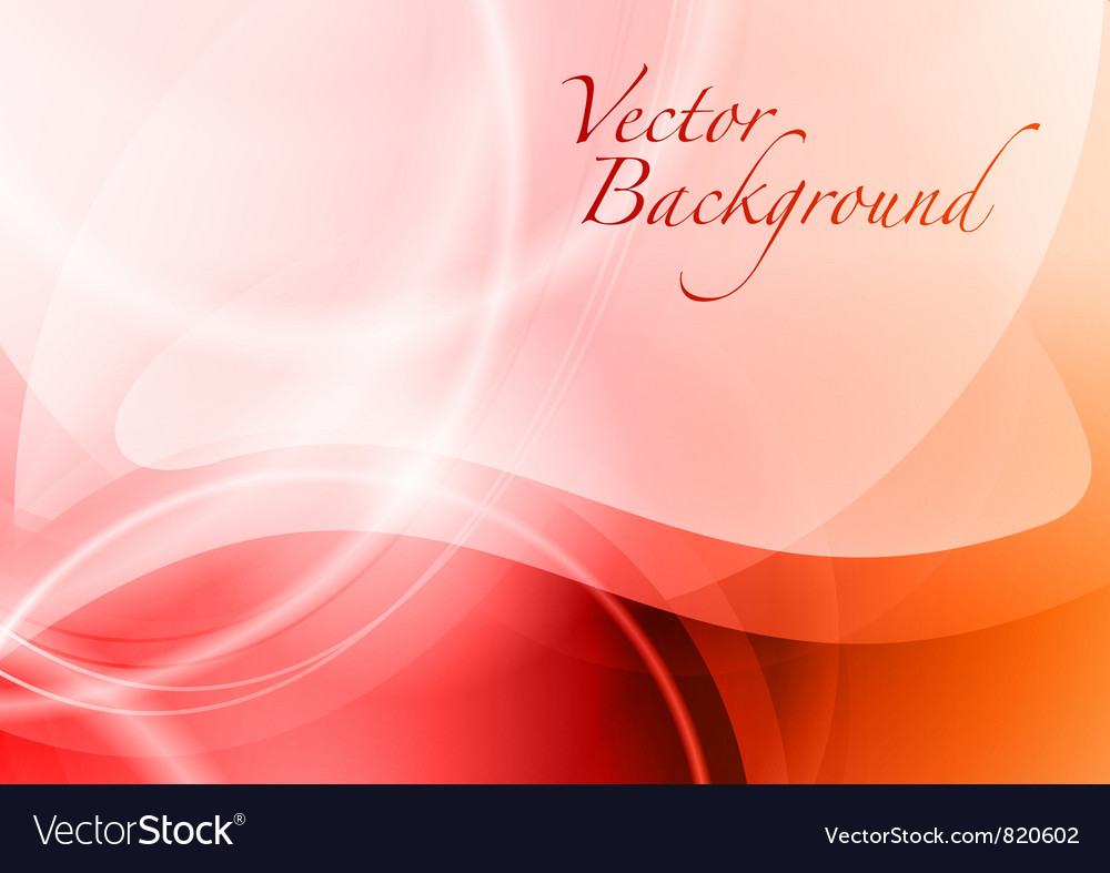 Background abstract red wave vector image