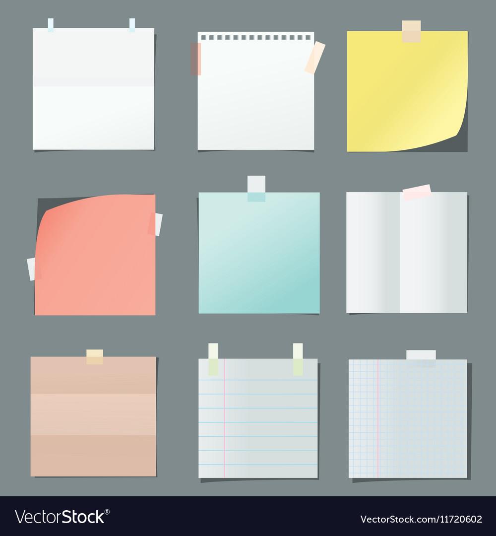 - Color Paper Sheets Royalty Free Vector Image - VectorStock