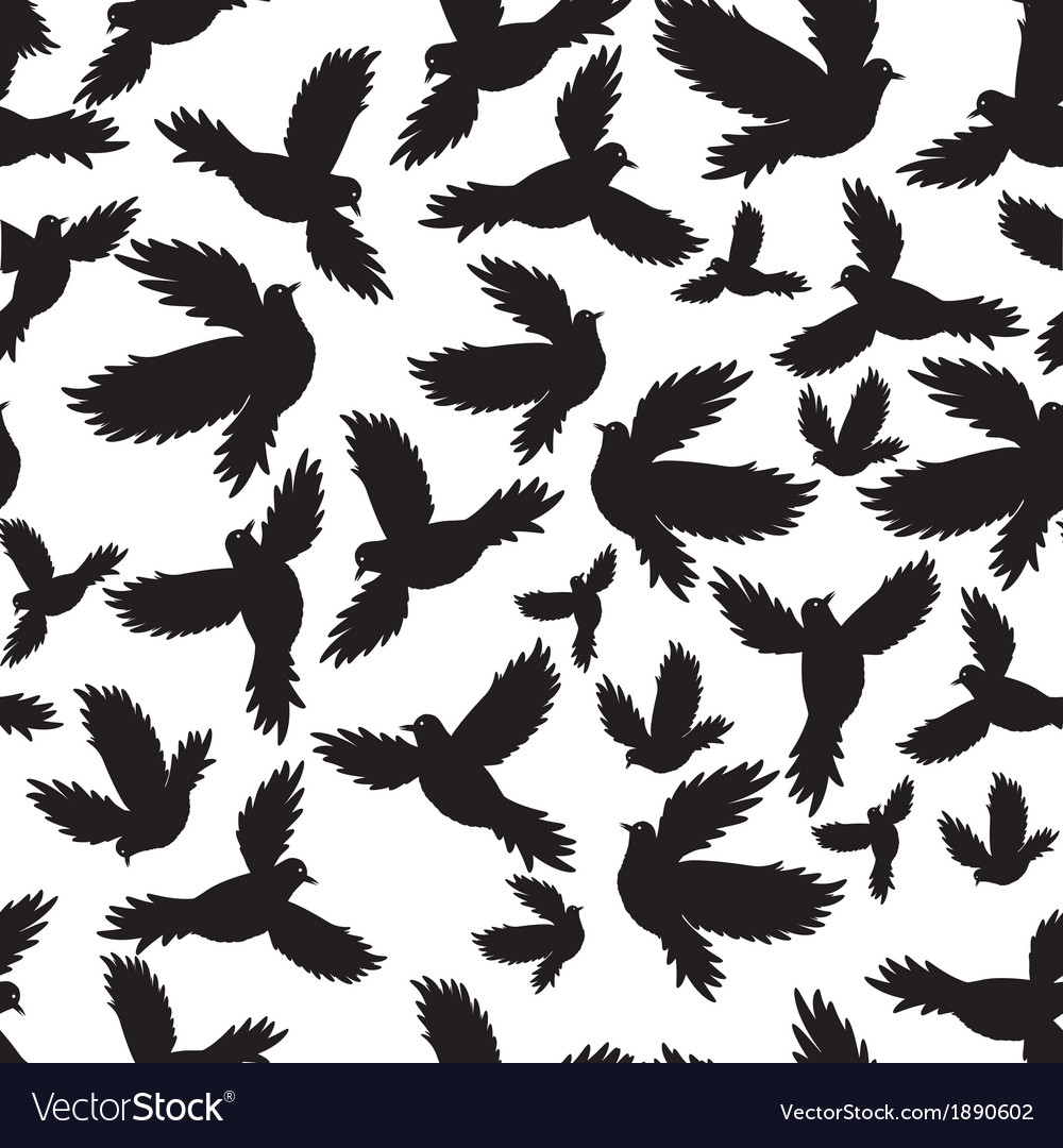 Holy birds dove seamless pattern
