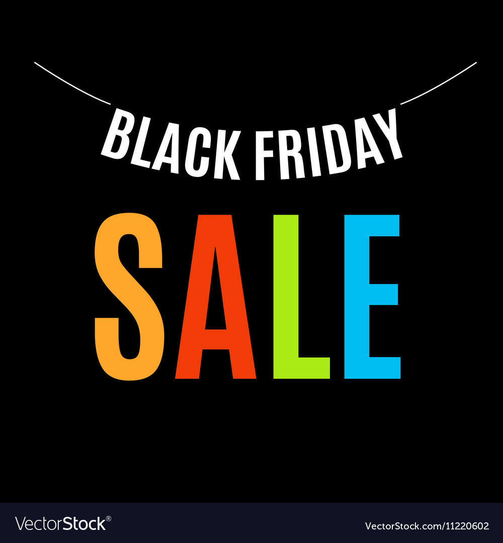 Isolated Colorful Black Friday Announcement Logo Vector Image