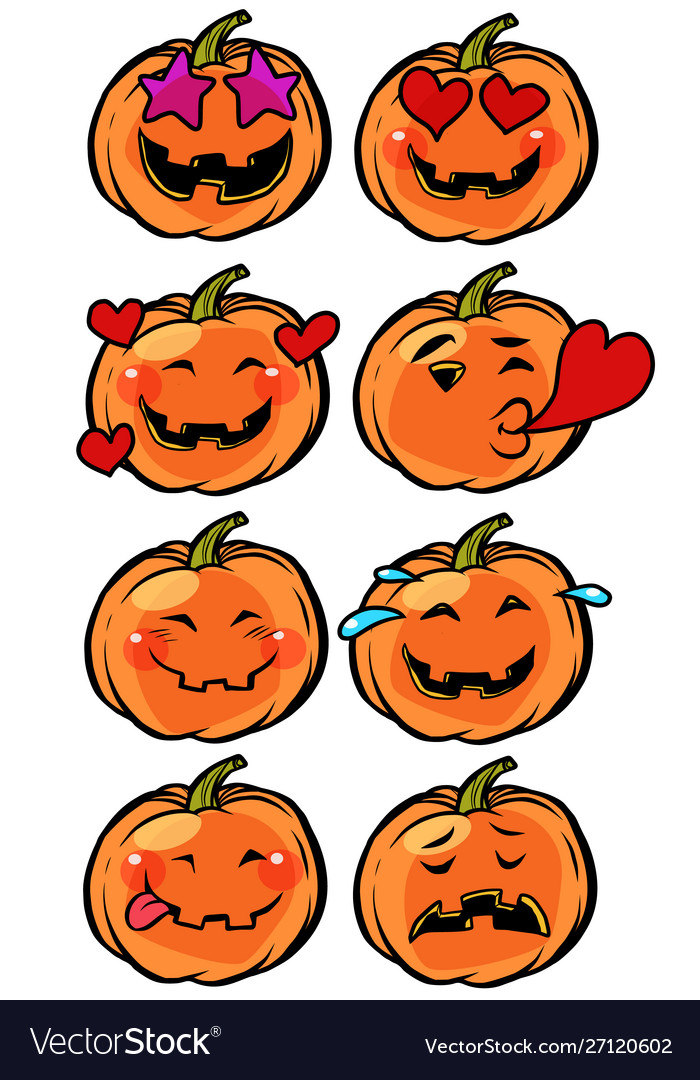 Love heart passion confusion emoji halloween