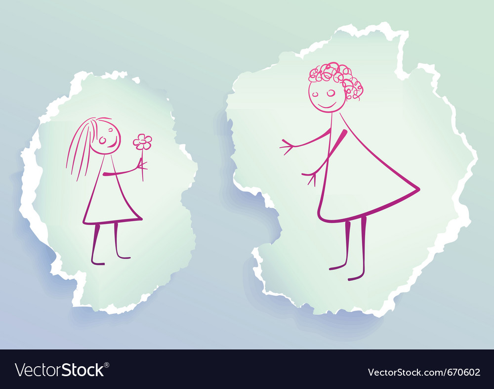 Paper section vector image