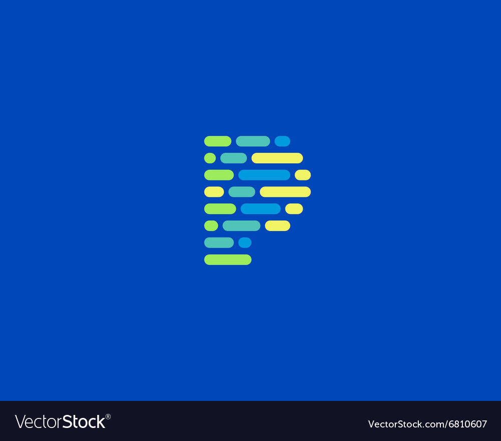 Abstract letter P logo Dynamic code