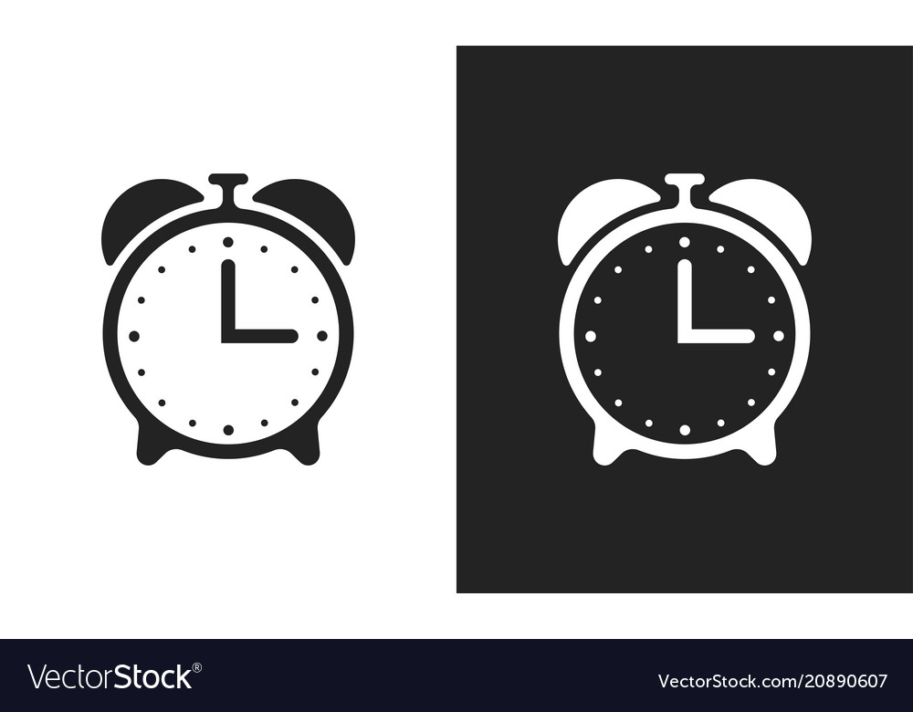 Alarm clock flat icons