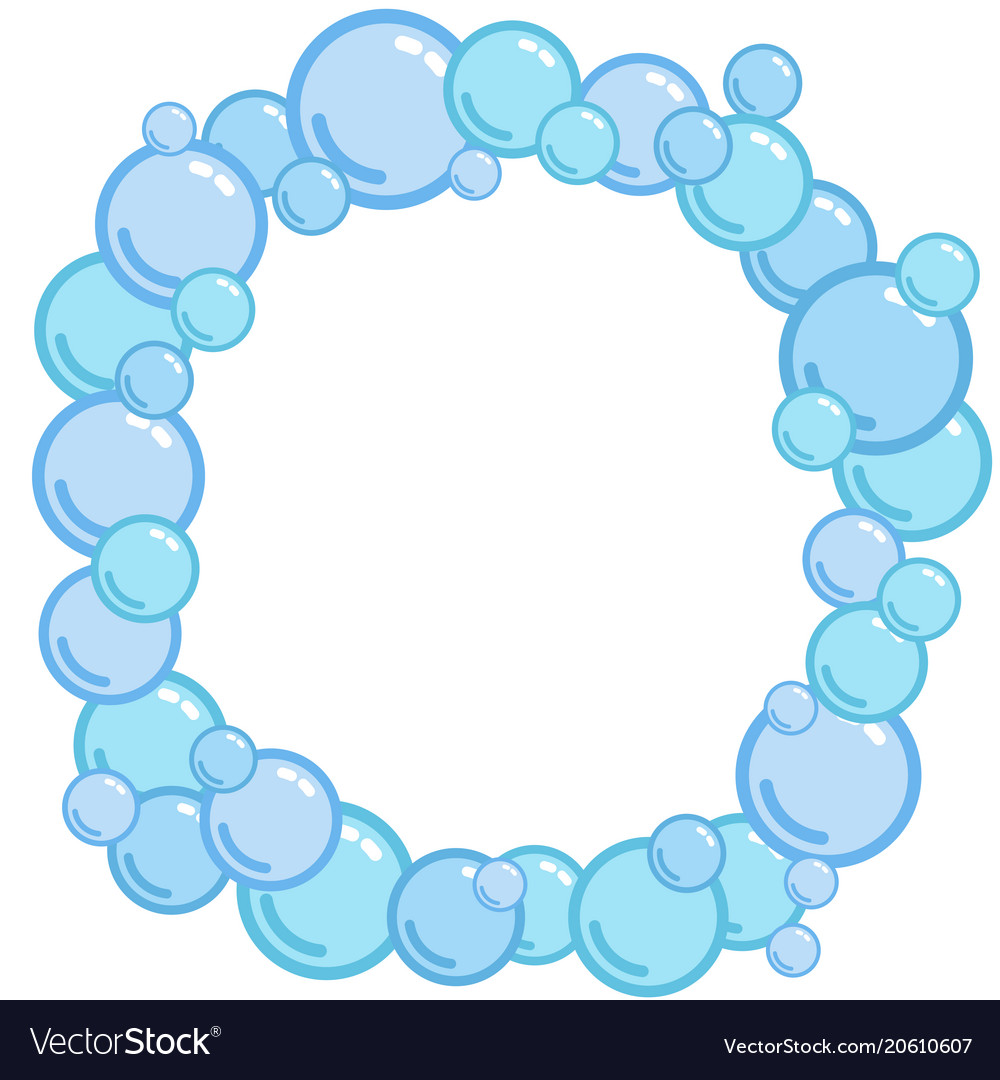bubble frame place for text from blobs soap vector image