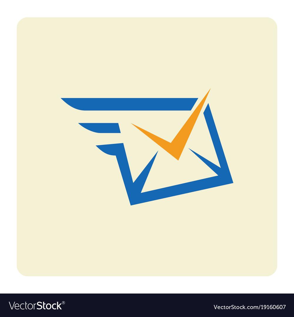 Check message envelope logo