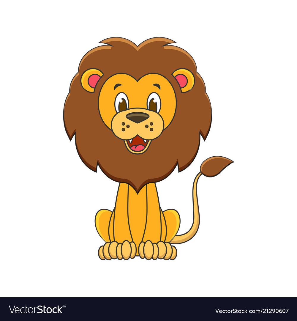 Cute cartoon lion kids