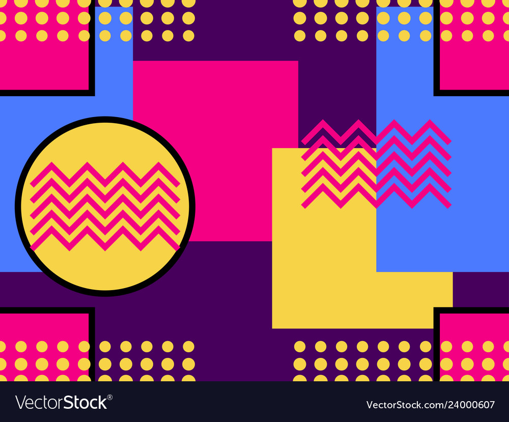 Geometric seamless pattern in the memphis style