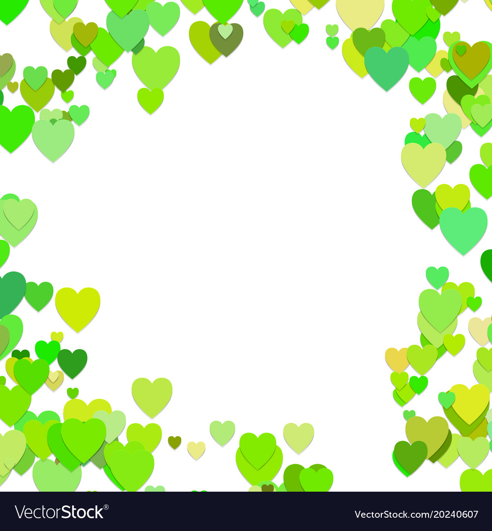 Green random heart background design - love