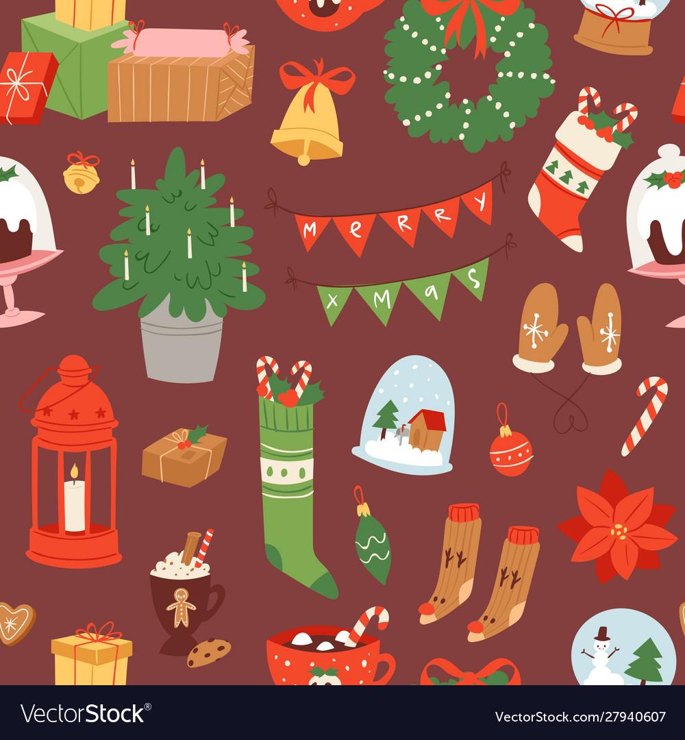 Merry christmas and winter holiday scandinavian