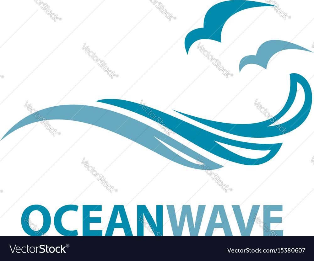 ocean wave logo royalty free vector image vectorstock rh vectorstock com ocean logistics miami ocean logistics ltd