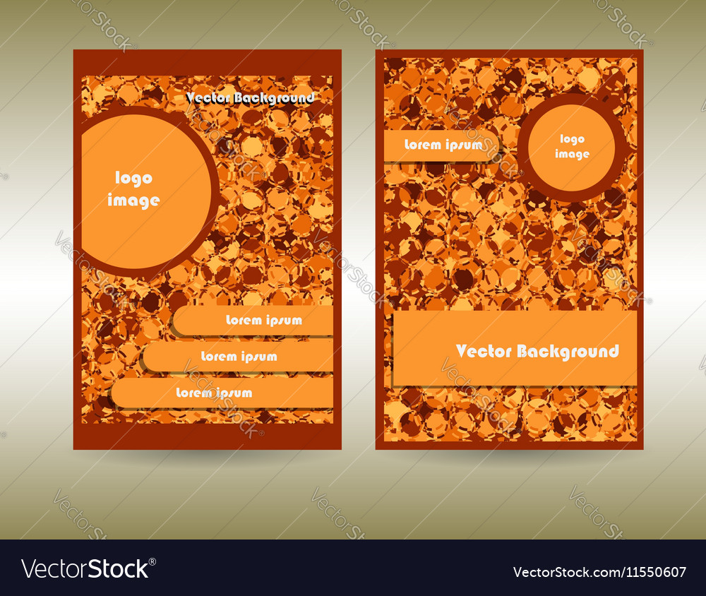 Orange color abstract circles vector image