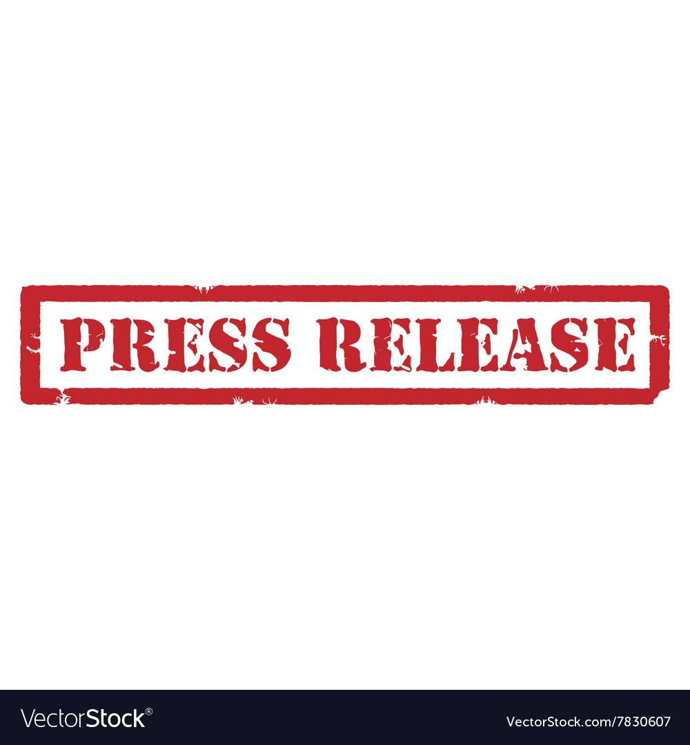 Press release stamp