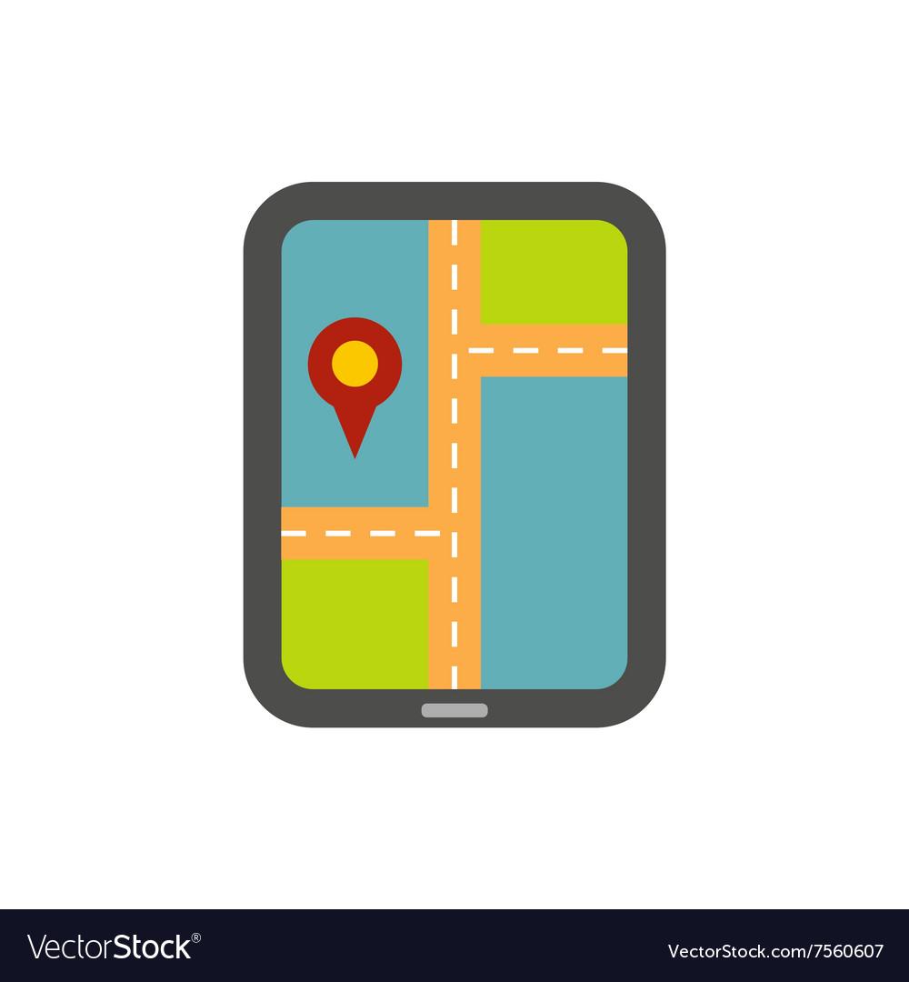 Smartphone navigation flat vector image