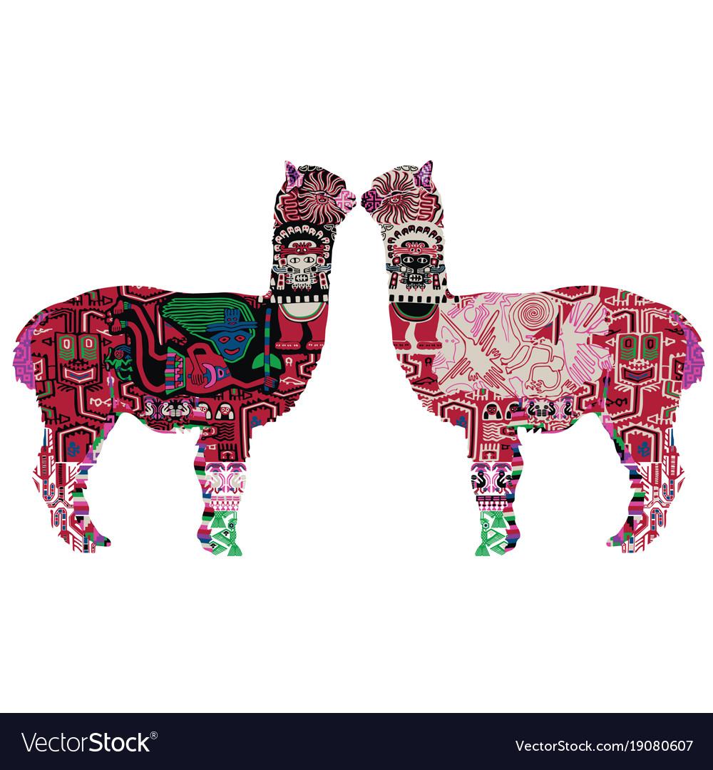 Two peruvian llamas