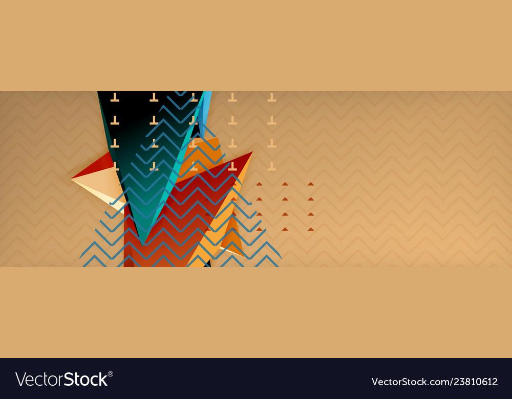 3d triangular shapes geometric background origami