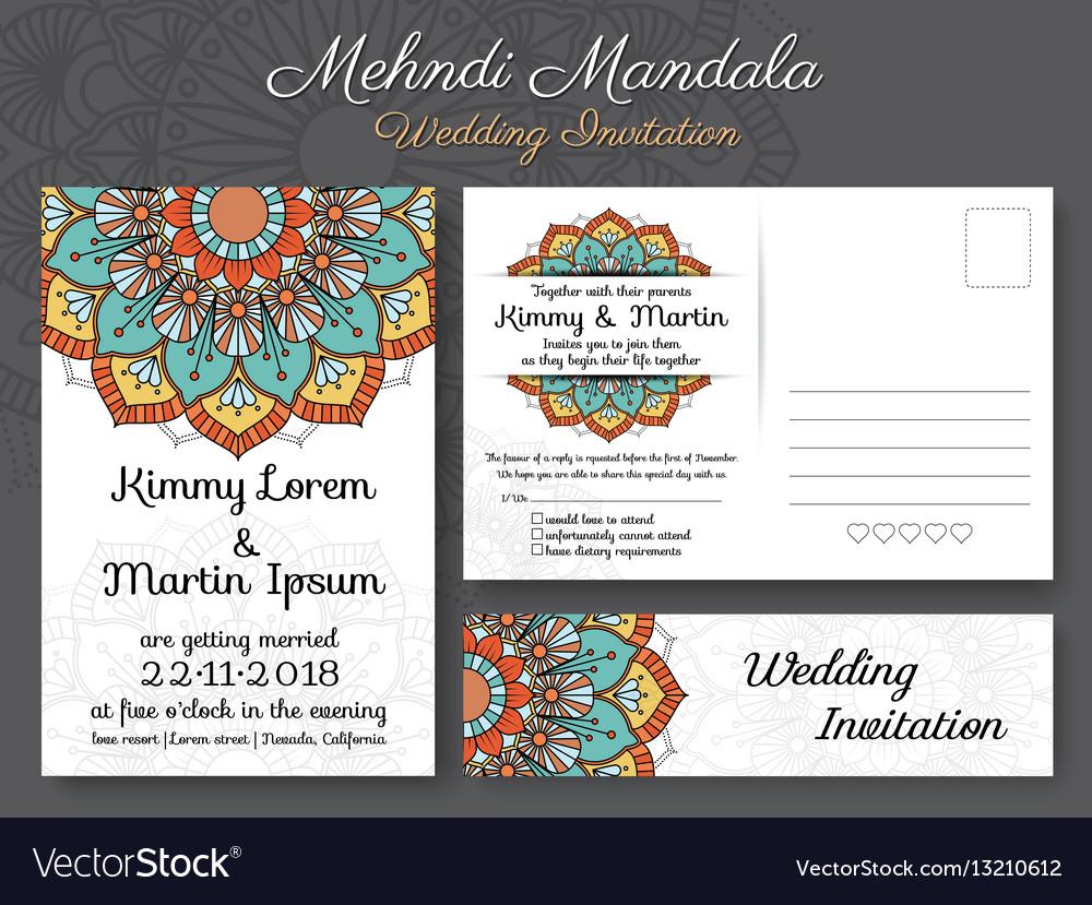 Classic vintage wedding invitation card design