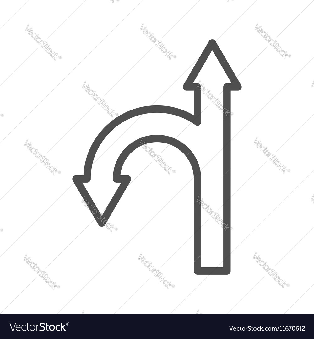 Directions line icon vector image