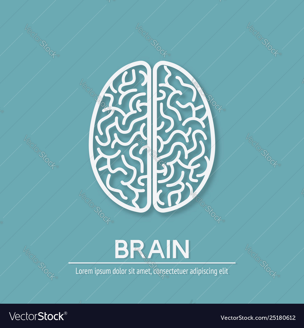 Human brain creativity symbol