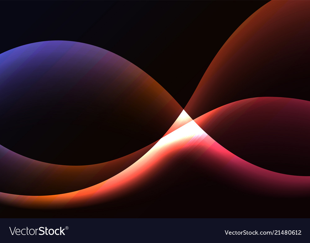Multicolor flame curve layer abstract background