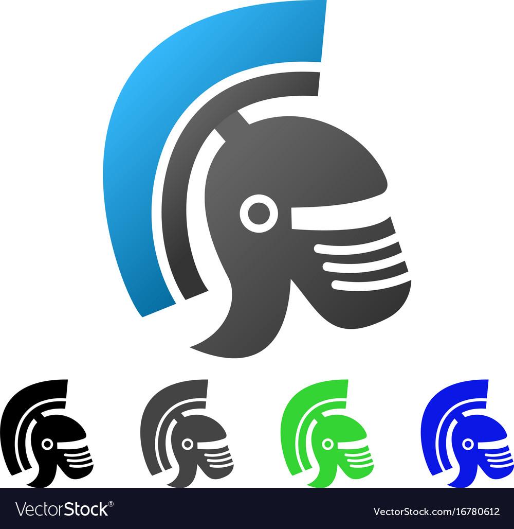 Rome helmet flat gradient icon