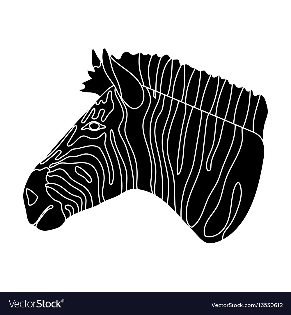 Zebra icon in black style isolated on white