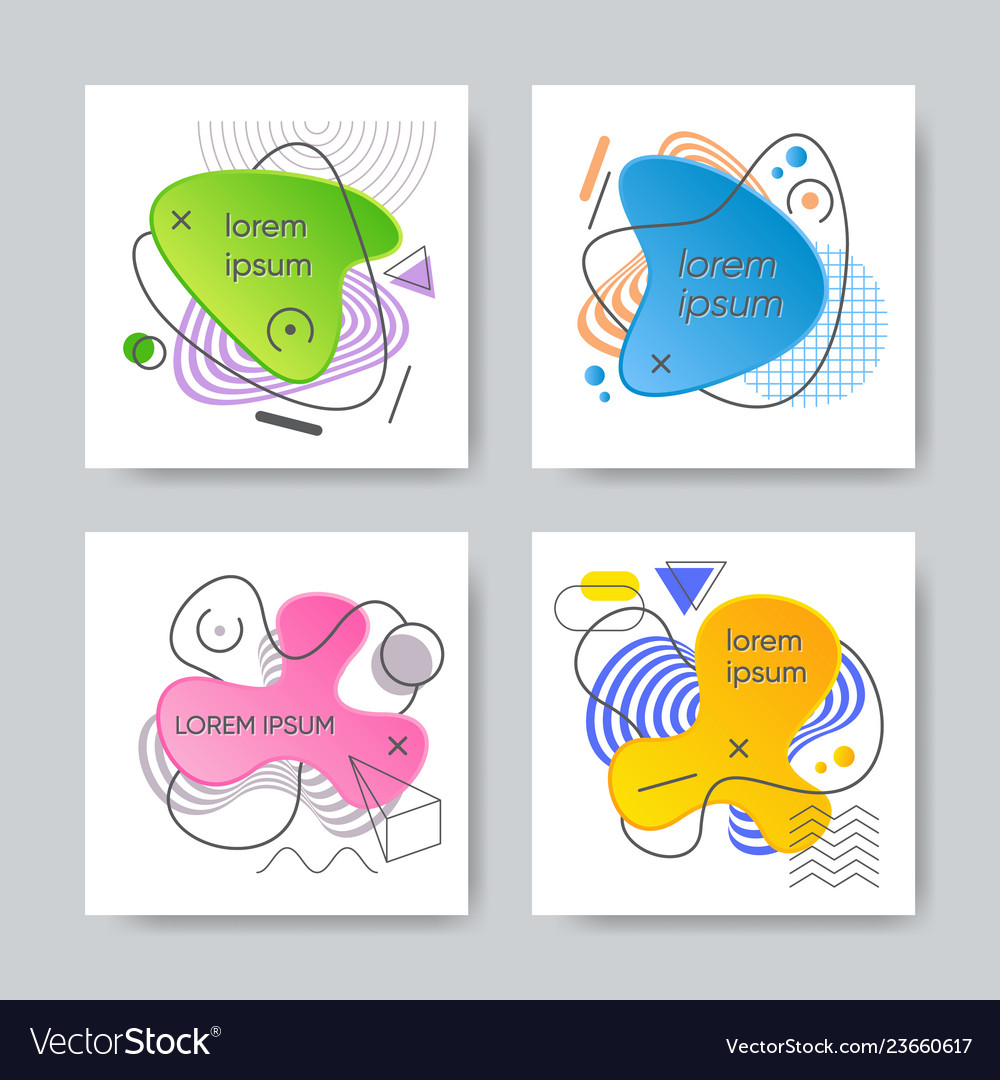 Abstract graphic gradient shapes and lines