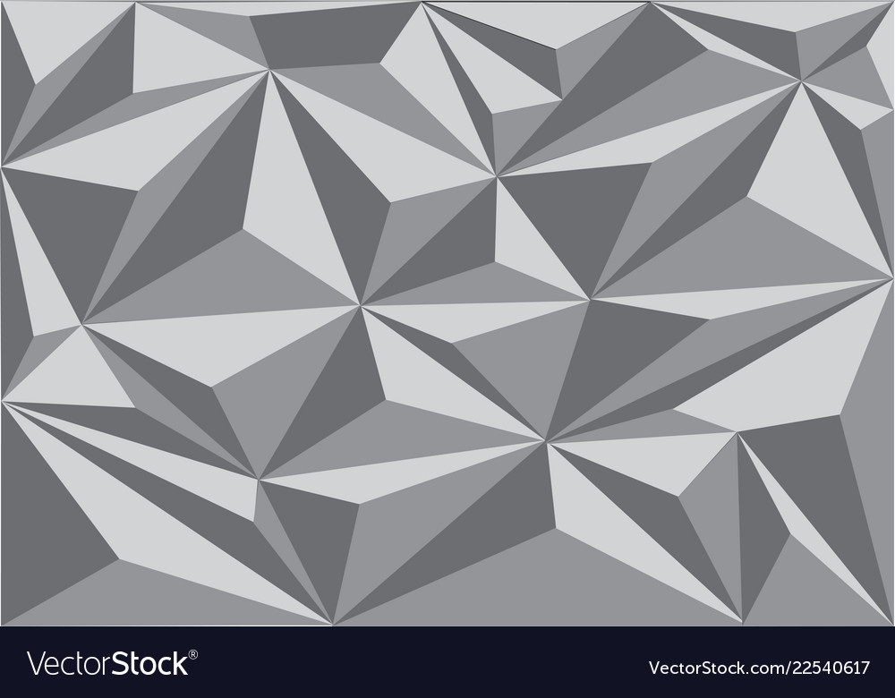 Abstract grey triangle polygon pattern background