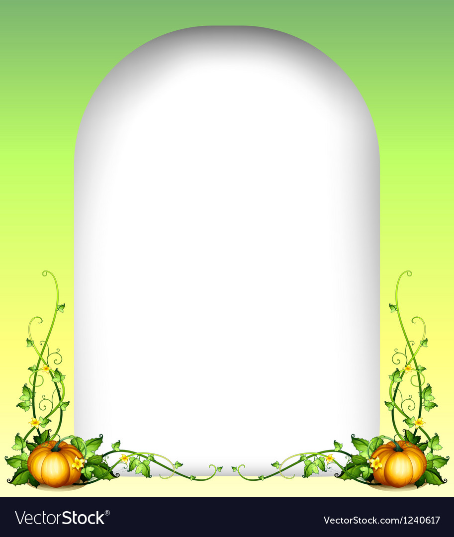 An empty space with two pumpkins vector image