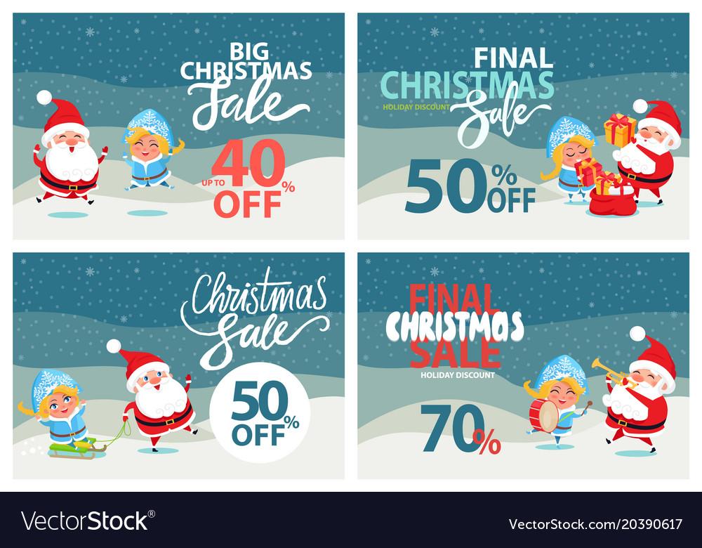 Big christmas sale clearance Royalty Free Vector Image