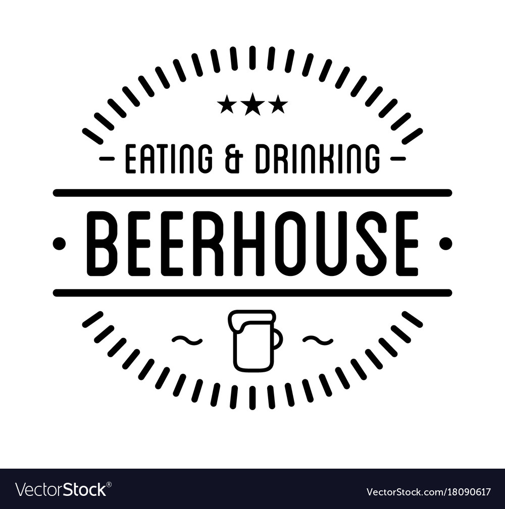 black logo beer house label template royalty free vector