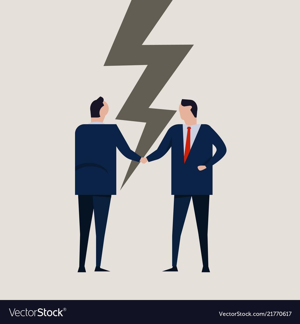 Businessmen broken contract relationship