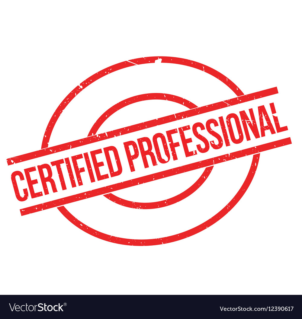 Certified Professional Rubber Stamp Vector Image