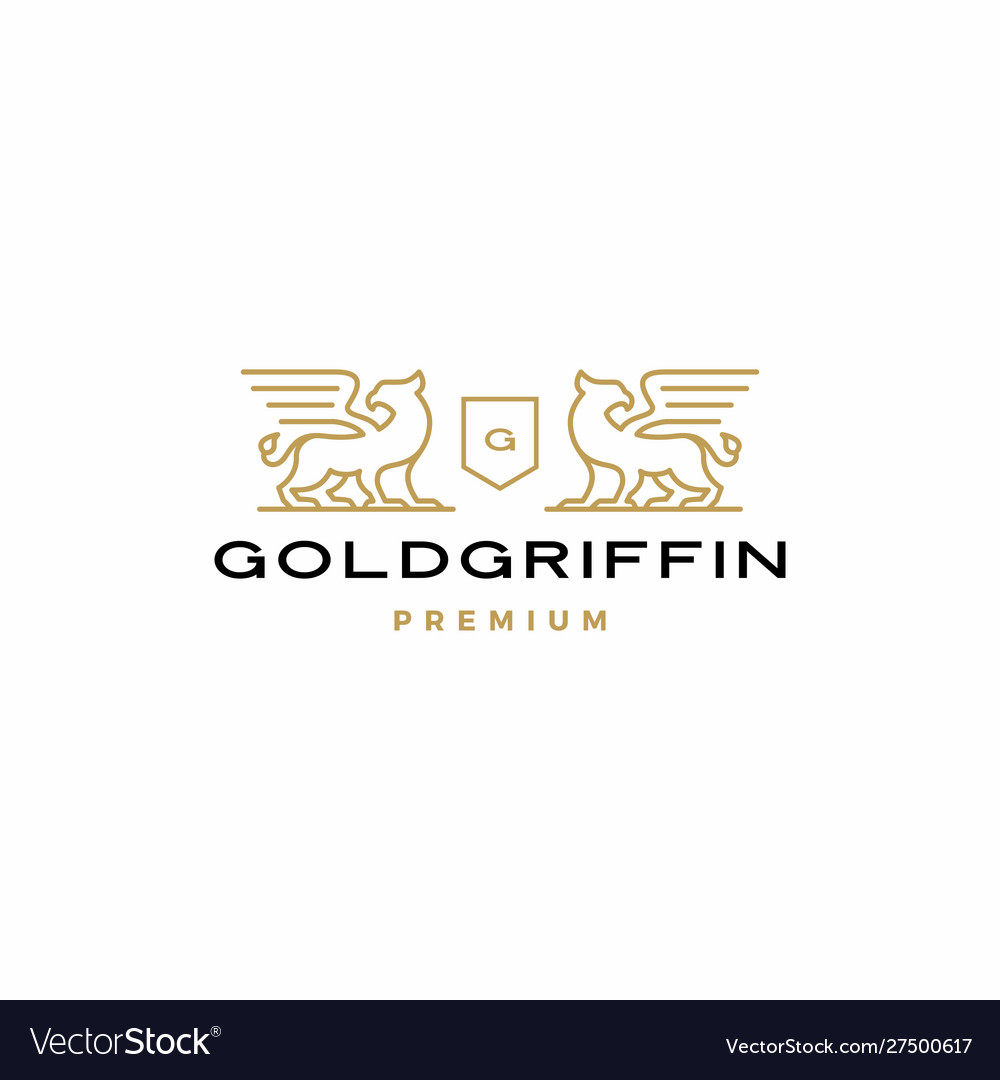 Griffin coat arms logo icon