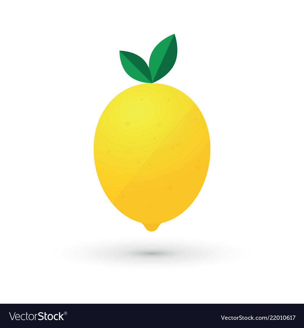 Lemon fruit logo design simple icon
