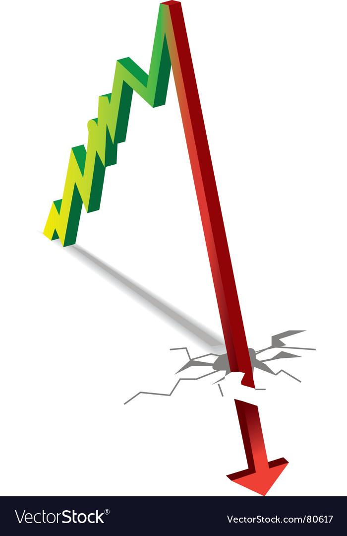 Line graph growth and crash