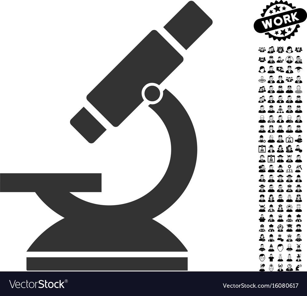 Microscope icon with job bonus