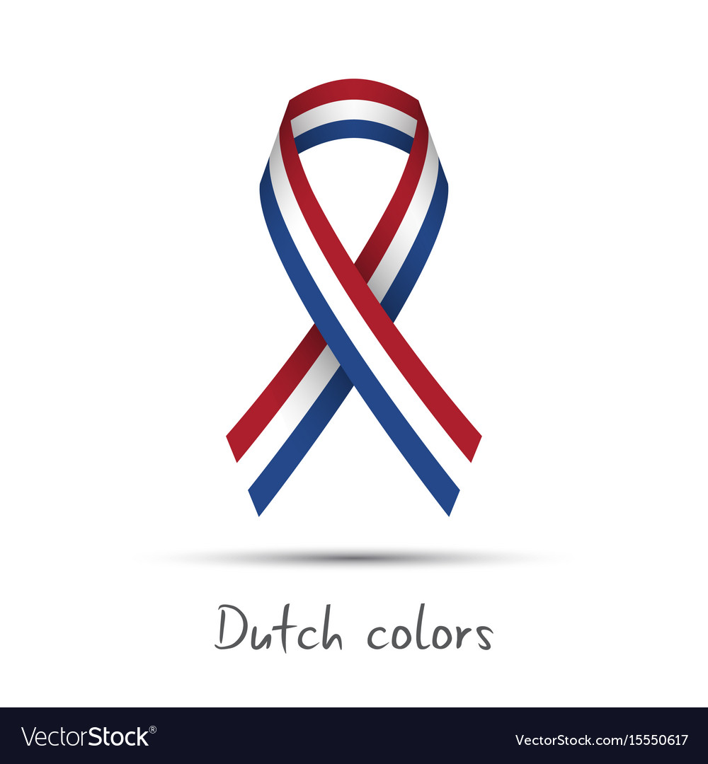 Modern colored ribbon with the dutch tricolor
