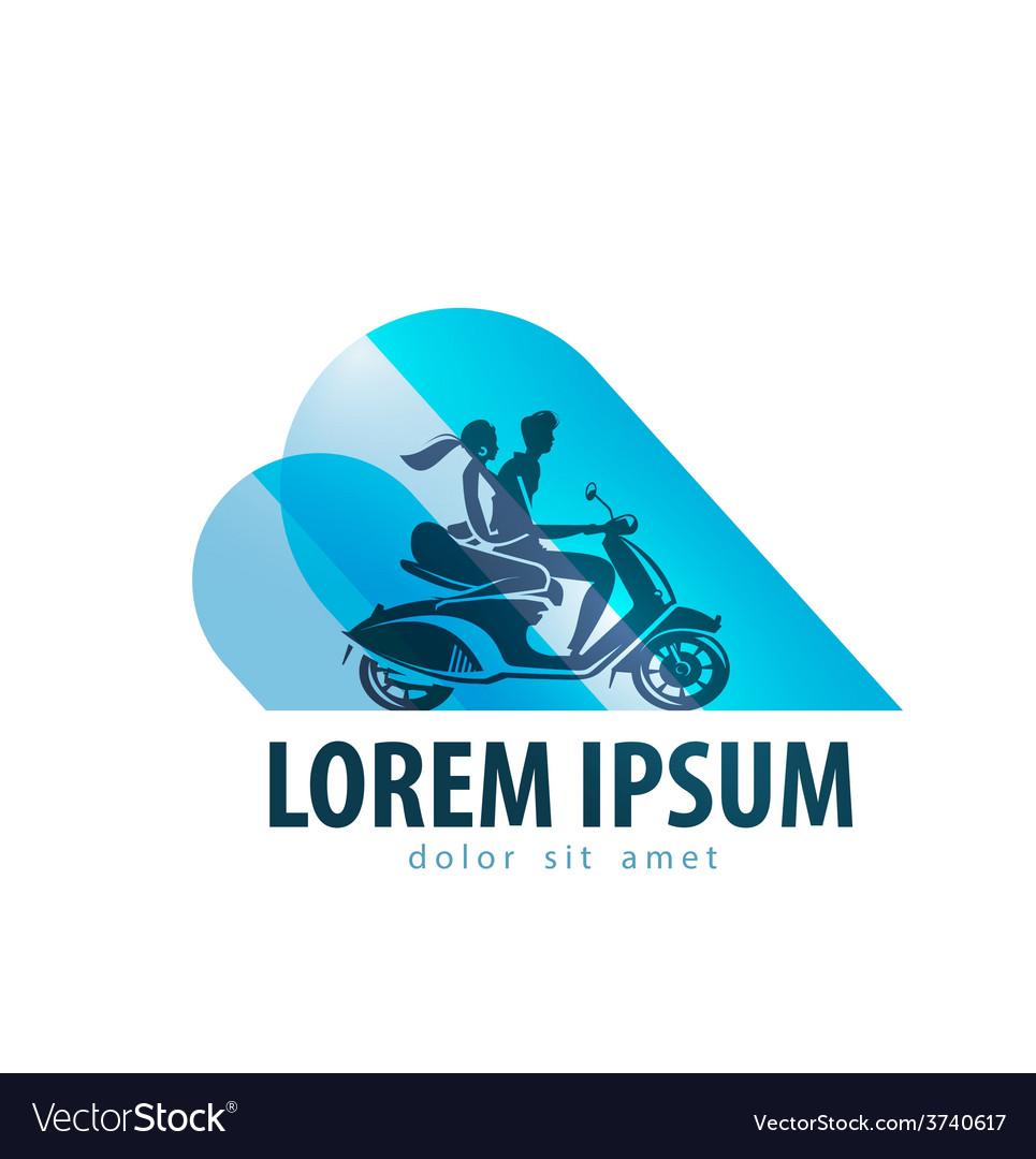 Motor scooter logo design template