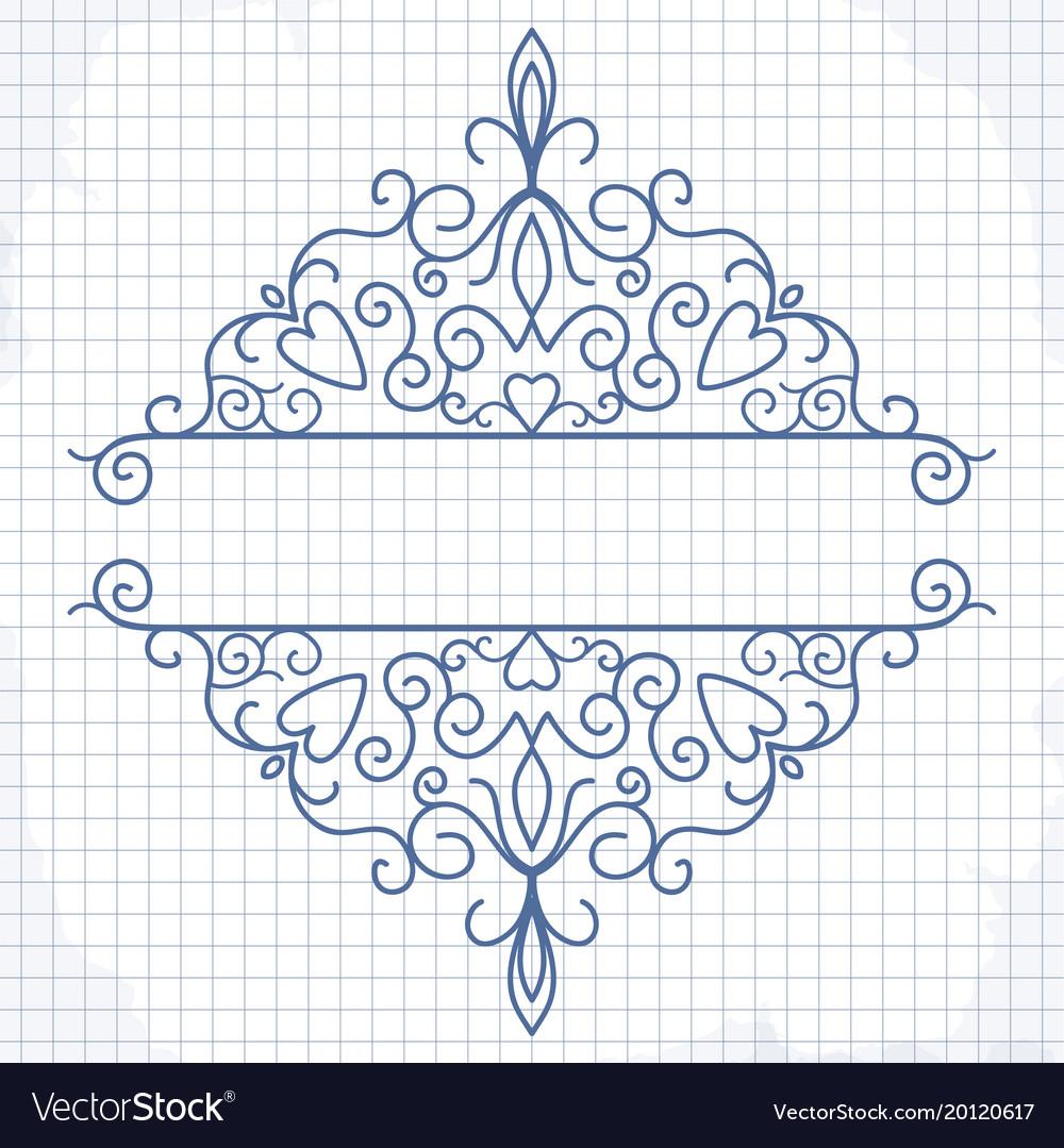 Vintage design elements for page border