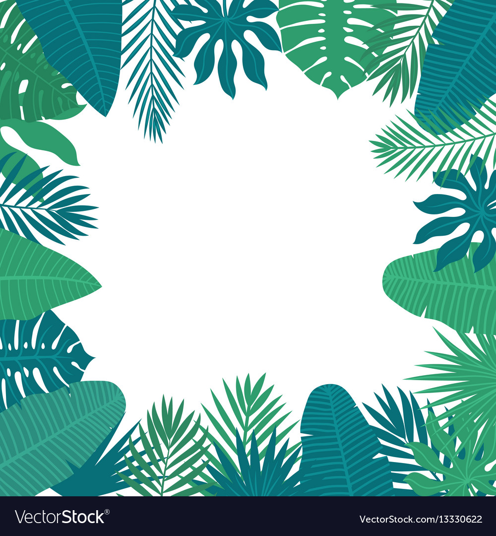 Abstract background with tropical leaves floral