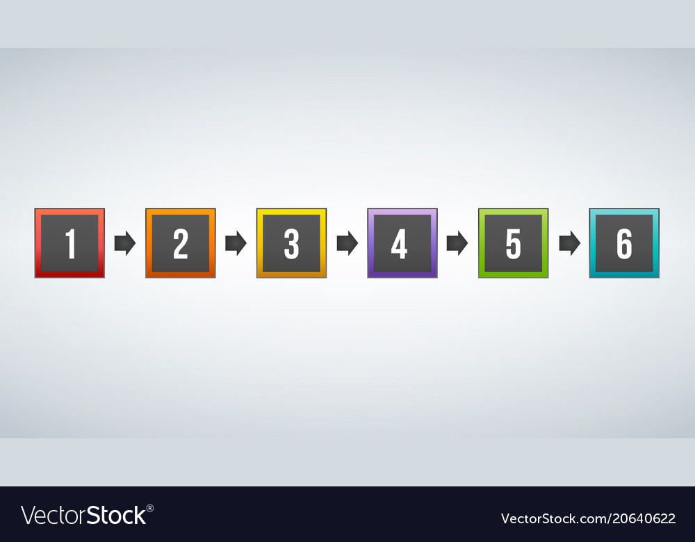 Colorful squares infographic template with place