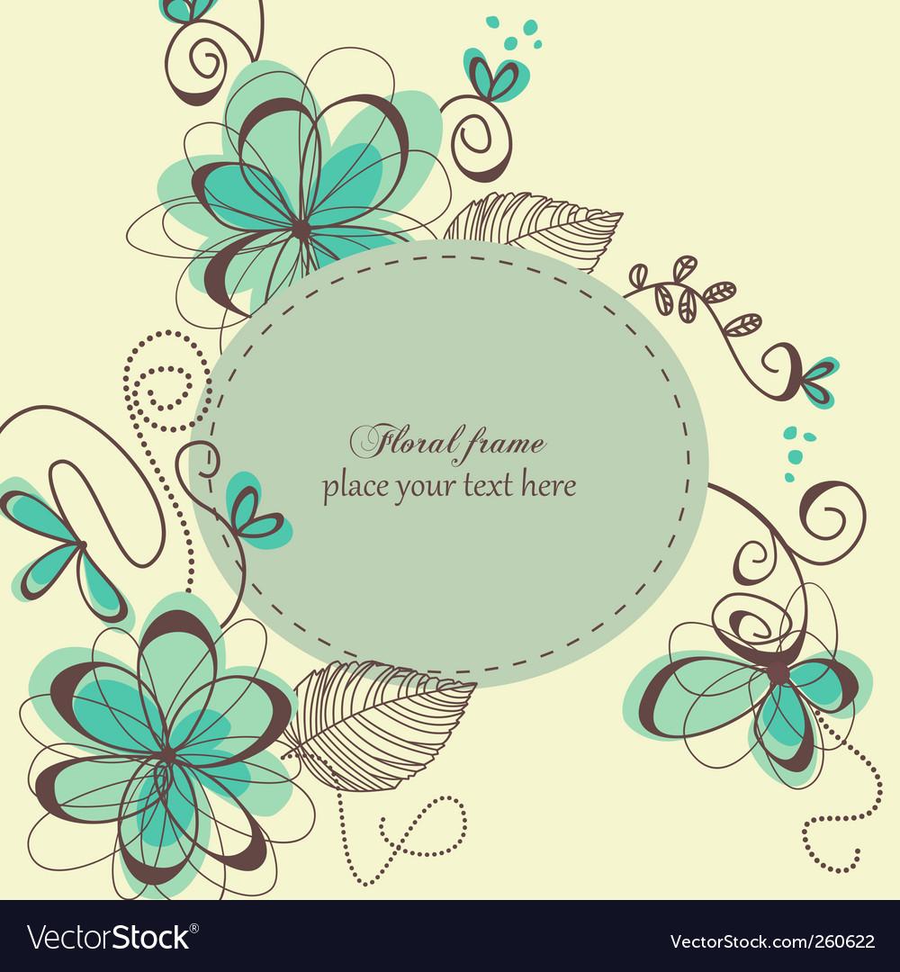 Decorative retro card