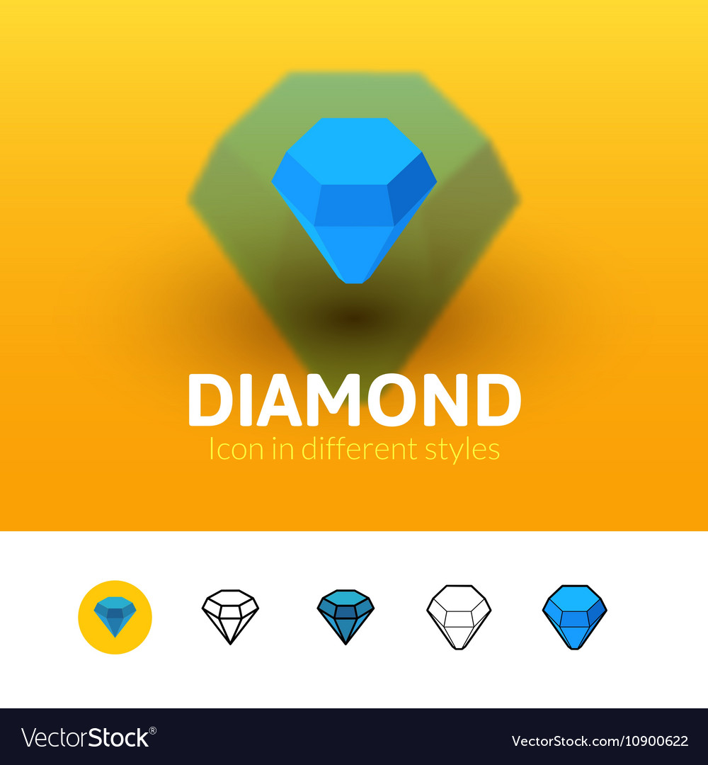 Diamond icon in different style