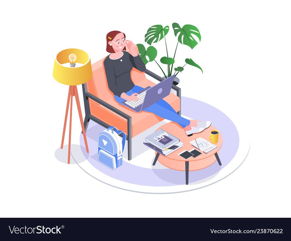 Entrepreneur woman wearing black blouse working