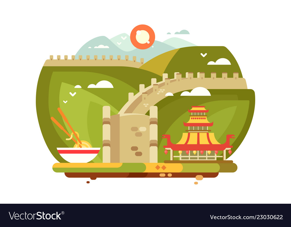 Great wall of china landscape for travel design